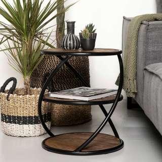 DELIFE Designer-Ecksofa Silas 255x147 cm Braun Antik Optik Ottomane Links, Ecksofas, Designer Sofa