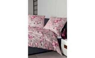 Janine Mako Satin Bettwäsche  Floral ¦ lila/violett ¦ 100% Baumwolle Bettwaren > Bettwäsche-Sets > weitere Bettwäschesets - Höffner