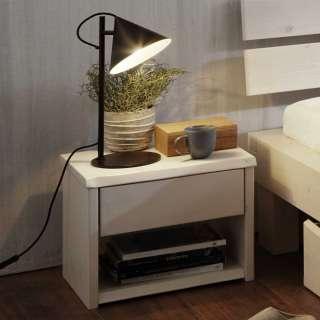 Nachtkonsole für Futonbett Holz White Wash