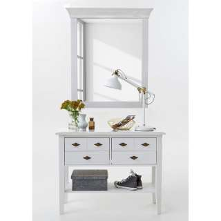 Schlafzimmer Bettanlage »MIEKA154« Massive Eiche white wash