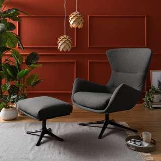 AMSTYLE Relaxsessel MALTA Loungesessel Bezug Kunstleder Farbe schwarz Cocktailsessel Leder-Optik Clubsessel 100 kg XL