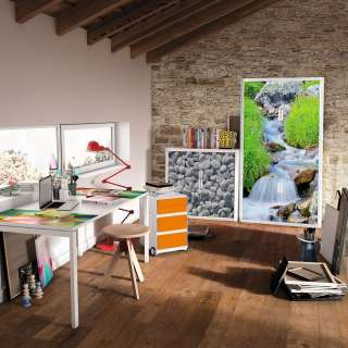 home24 Rollladenschrank easyOffice Nature III