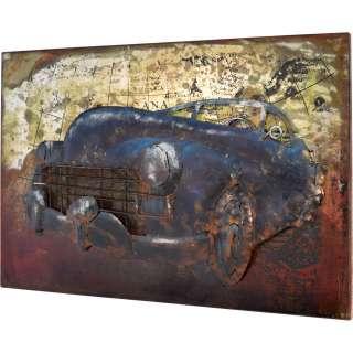 3D Metallbild Oldtimer Wandbild 60 x 40 cm