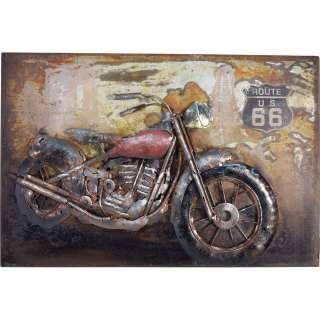3D Metallbild Motorrad Wandbild 60 x 40 cm
