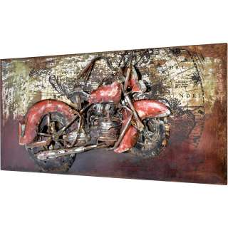 3D Metallbild Chopper Wandbild 140 x 70 cm
