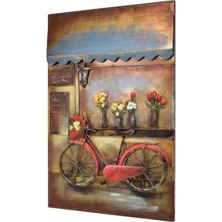 3D Metallbild Fahrrad Wandbild 80 x 120 cm
