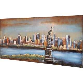 3D Metallbild Freiheitsstatue Wandbild 120 x 60 cm