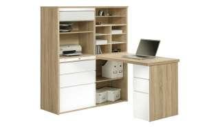 Komplett-Büro  Mosel ¦ weiß ¦ Maße (cm): B: 126,6 H: 150 T: 187 Komplett-Büro - Höffner