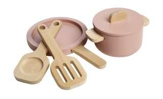 FLEXA Topf- und Pfannenset  The Kitchen ¦ rosa/pink ¦ Birke massiv Geschenkartikel > Geschenke für Kinder - Höffner