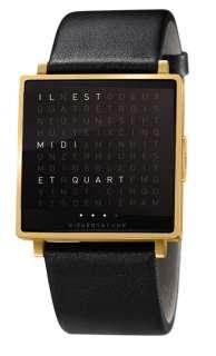 Biegert&Funk - Qlocktwo W - Armbanduhr - französisch - gold matt - M - indoor