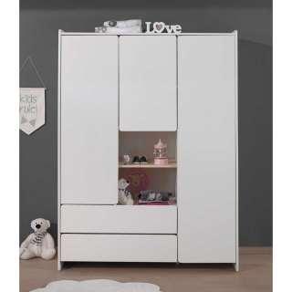 Kinderzimmer Kleiderschrank in Weiß 190 cm hoch