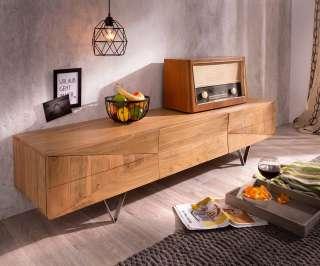 DELIFE Designer-Lowboard Wyatt 175 cm Akazie Natur 1 Klappe, Fernsehtische
