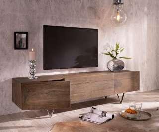 DELIFE Design-Lowboard Wyatt 175 cm Akazie Braun 2 Türen 1 Klappe, Fernsehtische