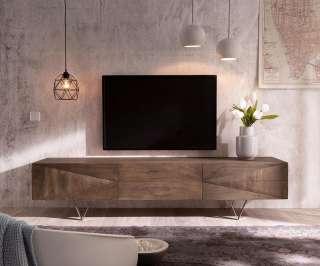 DELIFE Design-Lowboard Wyatt 175 cm Akazie Braun 1 Klappe, Fernsehtische
