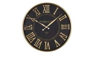 Uhr ¦ schwarz ¦ Maße (cm): H: 5,5 Ø: [51.0] Dekoration > Uhren & Wetterstationen - Höffner