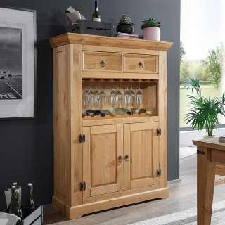 Kiefernschrank für Weinflaschen Landhausstil