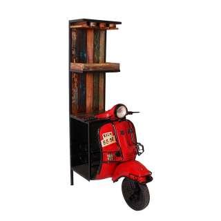 Factory Hausbar im Motorroller Look Rot