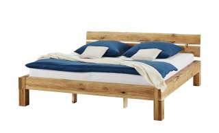 Woodford Balkenbett 200x200 - Massivholz - Wildeiche Asta ¦ holzfarben ¦ Maße (cm): B: 222 H: 82 T: 223 Betten > Futonbetten - Höffner