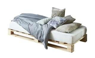 Palettenbett mit Matratze  Havering ¦ holzfarben ¦ Maße (cm): B: 90 H: 39 T: 200 Betten > Futonbetten - Höffner