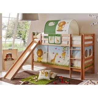 Kinder Rutschbett im Zootier Design Vorhang und Tunnel