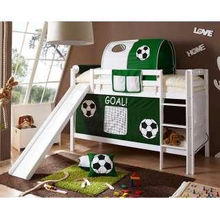 Jungen Rutschbett im Fußball Design Dunkelgrün und Weiß