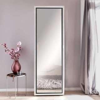 Spiegel Dielenschrank in Weiß LED Beleuchtung