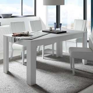 Küchentisch in Weiß lackiert modern