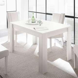 Esszimmertisch in Weiß lackiert 185 cm breit