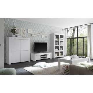 Wohnkombination in Weiß lackiert modern (4-teilig)