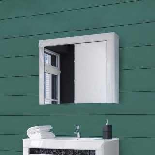 Spiegelschrank in Weiß Hochglanz 80 cm breit