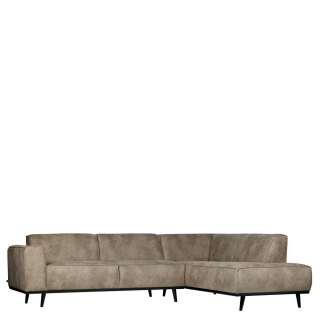 Couch aus Birke Massivholz Recyclingleder