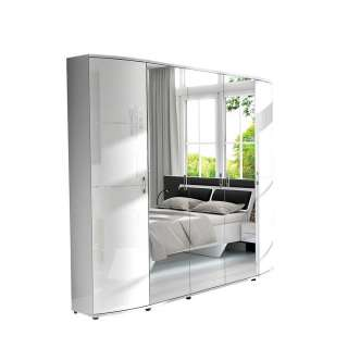 Schlafzimmerschrank in Weiß Spiegeltüren