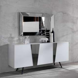 Türen Sideboard in Weiß Hochglanz Spiegelglas