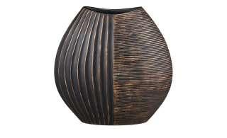 Deko-Vase ¦ braun ¦ Polyresin (Kunstharz) ¦ Maße (cm): B: 29,5 H: 29,5 T: 10,5 Ø: [10.5] Dekoration > Vasen - Höffner