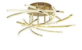 ML LED-Deckenleuchte, 9-flammig ¦ gold ¦ Maße (cm): H: 19 Ø: [52.5] Lampen & Leuchten > Innenleuchten > Deckenleuchten - Höffner