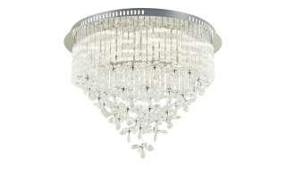 KHG LED-Kristalldeckenleuchte 10-flammig ¦ silber ¦ Maße (cm): H: 46 Ø: [60.0] Lampen & Leuchten > Innenleuchten > Deckenleuchten - Höffner