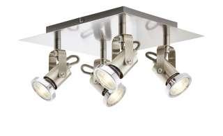 KHG Spot, 4-flammig, Nickel matt ¦ silber ¦ Maße (cm): B: 24 H: 12 Lampen & Leuchten > LED-Leuchten > LED-Strahler & Spots - Höffner