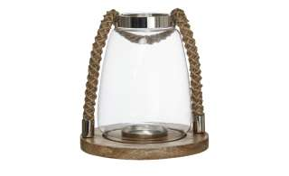 Windlicht ¦ transparent/klar ¦ Metall, Holz, Glas  ¦ Maße (cm): H: 23 Ø: [22.0] Dekoration > Laternen & Windlichter - Höffner