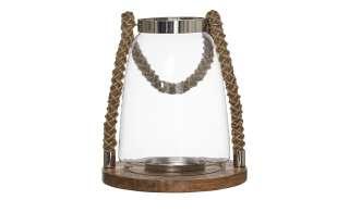 Windlicht ¦ transparent/klar ¦ Metall, Holz, Glas  ¦ Maße (cm): H: 28 Ø: [25.0] Dekoration > Laternen & Windlichter - Höffner