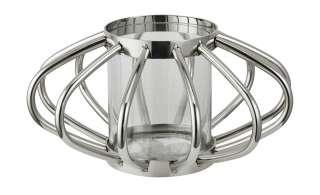 Windlicht ¦ silber ¦ Glas , Metall ¦ Maße (cm): H: 15 Ø: [29.0] Dekoration > Laternen & Windlichter - Höffner