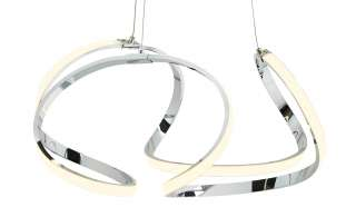 KHG LED-Pendelleuchte, geschwungen ¦ silber ¦ Maße (cm): H: 150 Ø: [52.0] Lampen & Leuchten > LED-Leuchten > LED-Pendelleuchten - Höffner