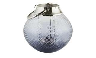 Windlicht ¦ silber ¦ Edelstahl, Glas , Aluminum ¦ Maße (cm): H: 25 Ø: [25.0] Dekoration > Laternen & Windlichter - Höffner