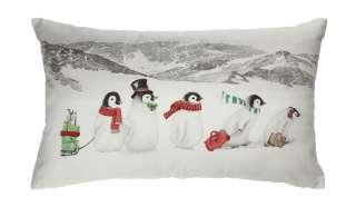 LAVIDA Kissen  Pinguine ¦ weiß ¦ 100% Polyesterfüllung ¦ Maße (cm): B: 30 Weihnachten - Höffner