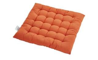 HOME STORY Stuhlkissen  Bella ¦ orange ¦ 100% Baumwollfüllung ¦ Maße (cm): B: 40 H: 4 Heimtextilien > Kissen > Stuhlkissen - Höffner