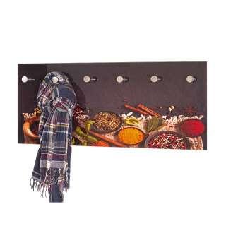 Wandgarderobe aus Sicherheitsglas modern