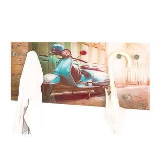 Retro Style Hängegarderobe mit Motorrad Motiv 50 cm breit