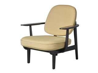 Fritz Hansen - Lounge Chair JH97 - gelb - Esche schwarz gefärbt - indoor