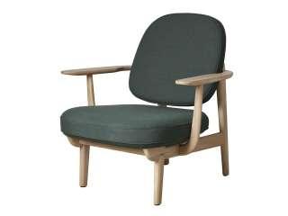 Fritz Hansen - Lounge Chair JH97 - grün - Esche schwarz gefärbt - indoor