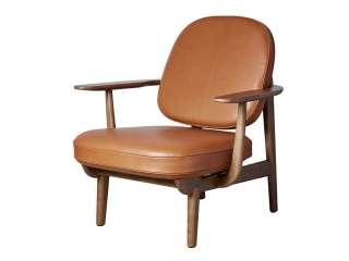 Fritz Hansen - Lounge Chair JH97 - Leder - Eiche dunkel gebeizt - indoor