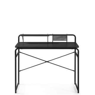Laptopschreibtisch in Schwarz Stahl